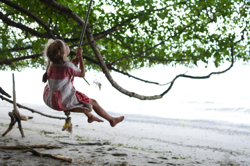 Ivy on rope swing
