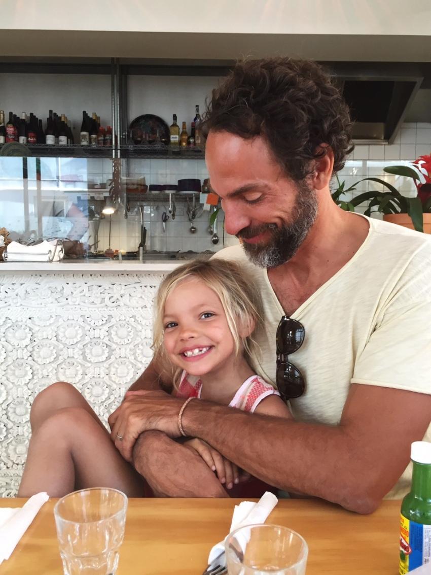 Michael and Ivy at Nicola's cantina