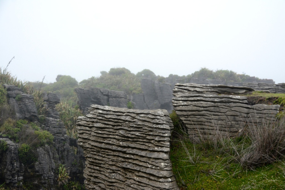 pancake rocks close up