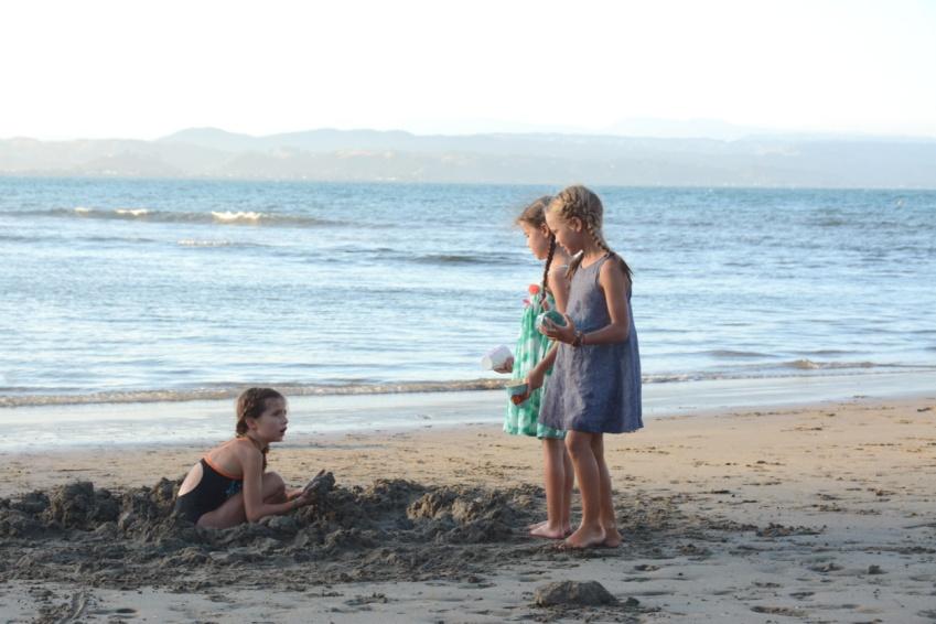 kids playing on Little Bondi, Napier