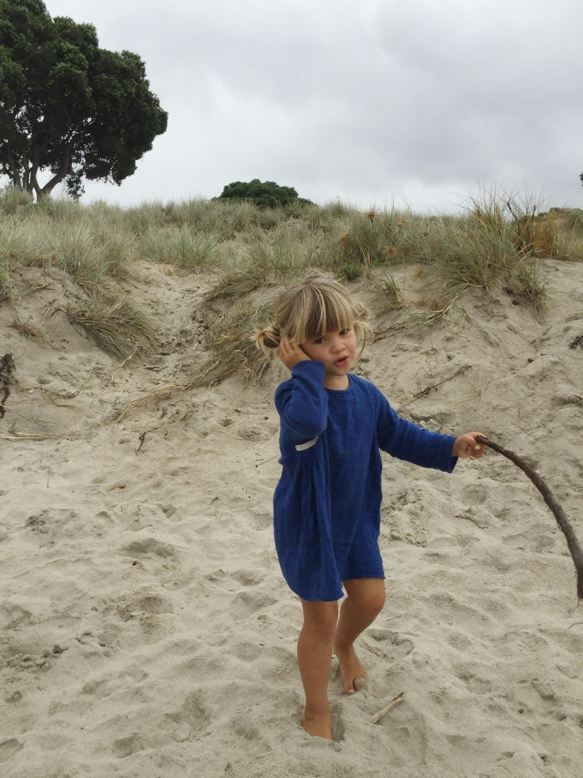Marlow on beach