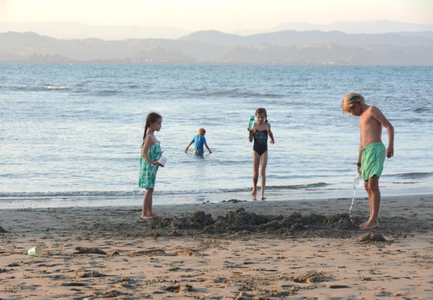 sand castles on Little Bondi Napier