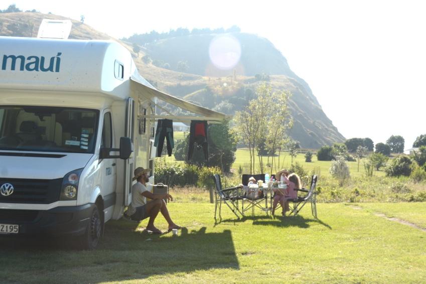 Waipatiki beach campsite