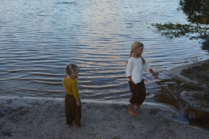 girls at Lake Ainsworth