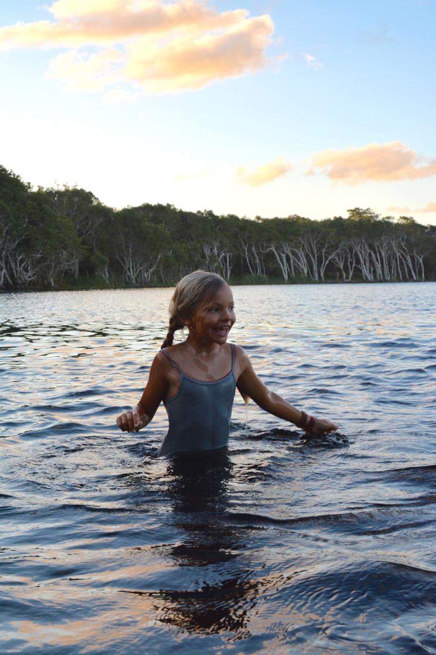 Ivy swimming in lake