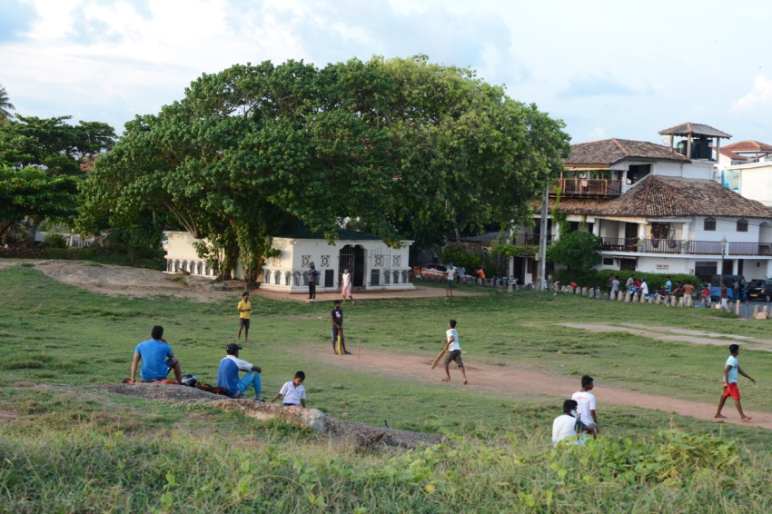 cricket at Galle Fort