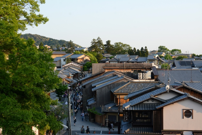 Geisha district in Kyoto