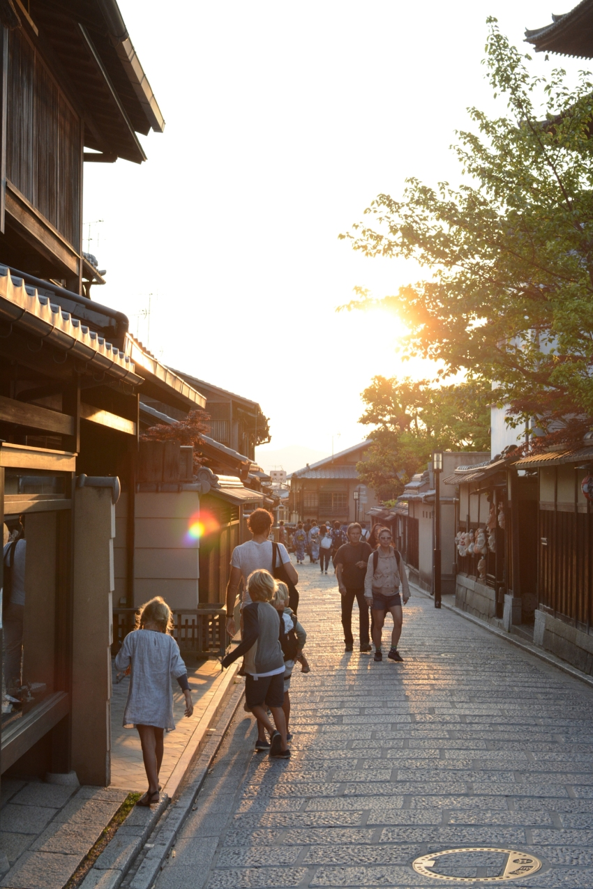 Kyoto sunset Geisha District