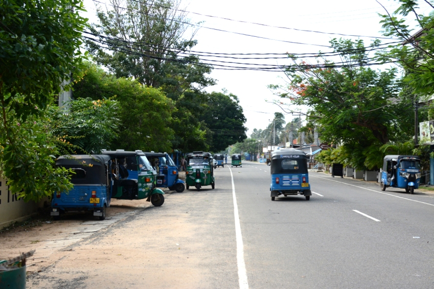 tuktuks in Arugam Bay