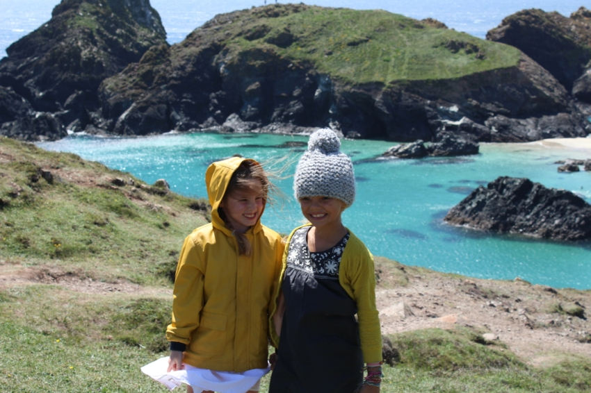 Ivy and Sophie at Kynance Cove