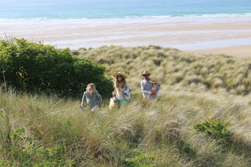 walking in sand dunes
