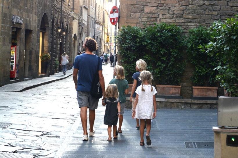 michael and kids walking 2