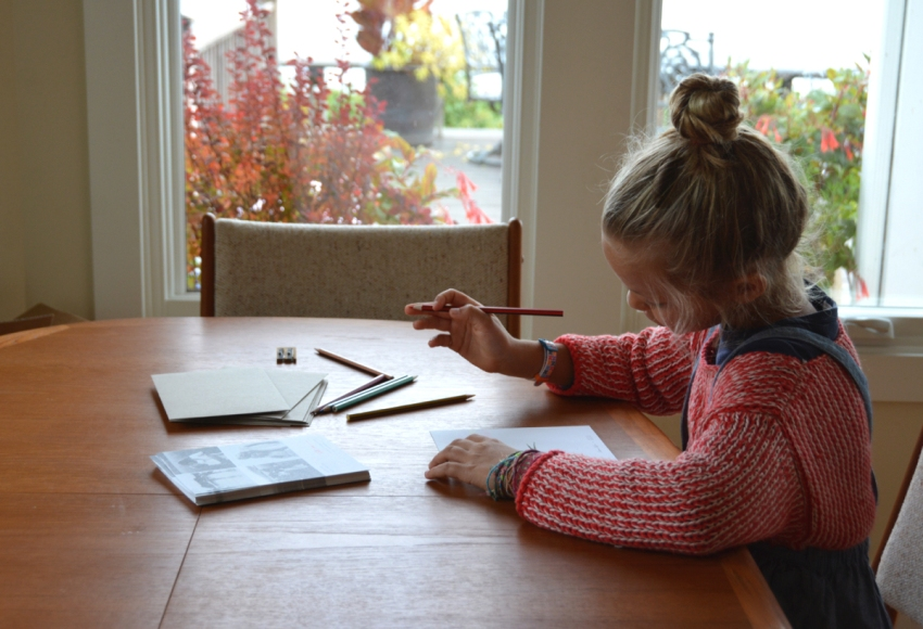 ivy-writing-christmas-cards